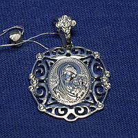 Нательная иконка из серебра образ Пресвятой Богородицы 37804-р