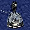 Ладанка из серебра с эмалью Богородица 331058