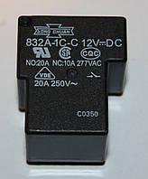 Реле электромеханическое  832A-1C-С;  12VDC