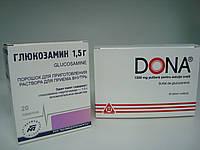 Глюкозамин хондропротектор (анало препарата Дона), порошок для приготовления раствора для приема внутрь 1,5г.