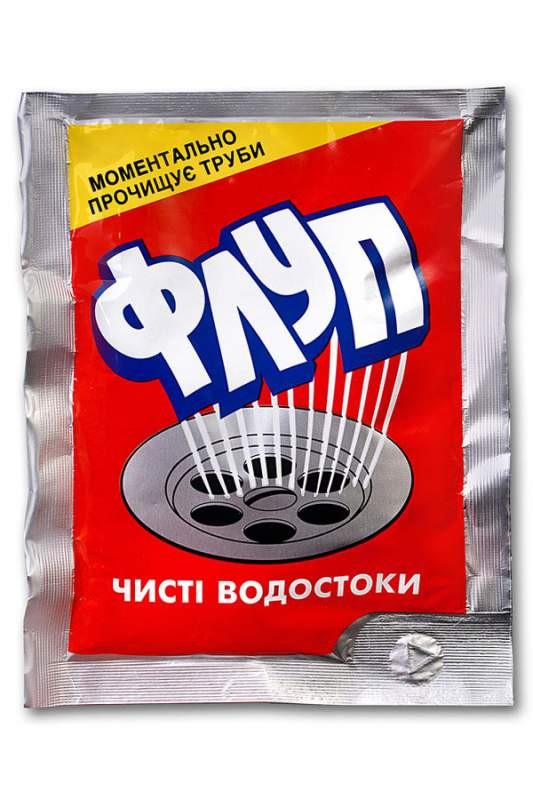 Средство для прочистки труб Флуп, горячий (80г.)