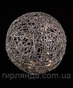 Куля діаметр 20см, срібло 19-101-20-S