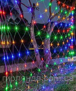Сітка 160 LED 2м*1,5м,  мульті