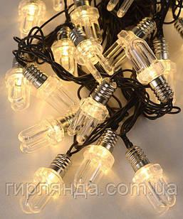 ЛАМПОЧКА-ДУГА   20 LED, 7м,   білий теплий