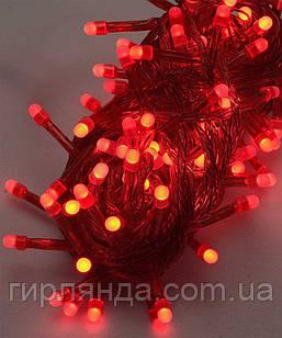 100 LED ОДНОТОН  ,червоний