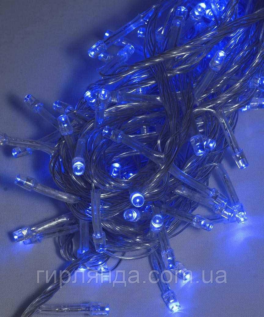 200 LED, синій                (прозорий провід)