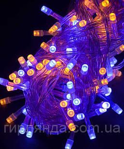 500 LED,  жовто-синій    (прозорий провід)
