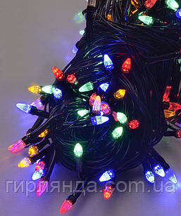 КОНУС     200 LED,  мульті          (чорний провід)