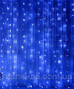 Штора 120 LED  1.5м*1.2м, синій