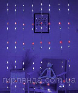 Водоспад 300 LED 3м*1,5м, RB-фіолетовий