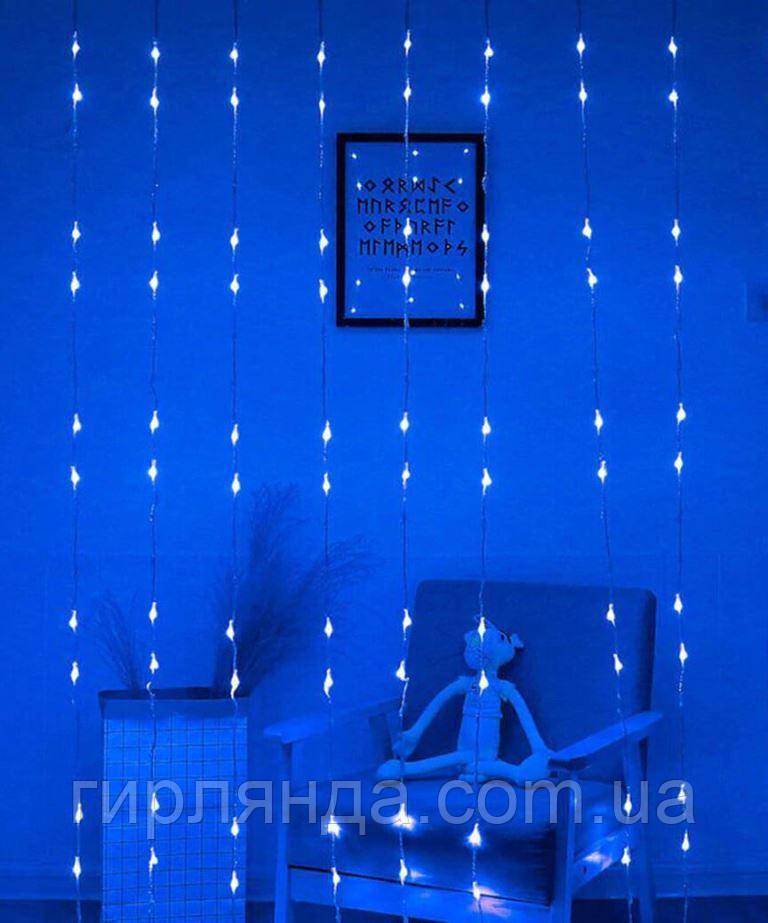Водоспад 360 LED 4м*0.8м, синій