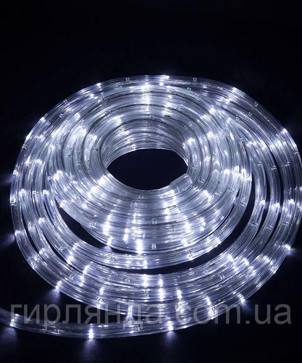 КВАДРАТНИЙ дюралайт 3-жильн  LED 10м білий
