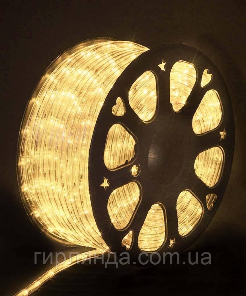 БУХТА 3-жильн. круглий LED 80 м, білий теплий, шт