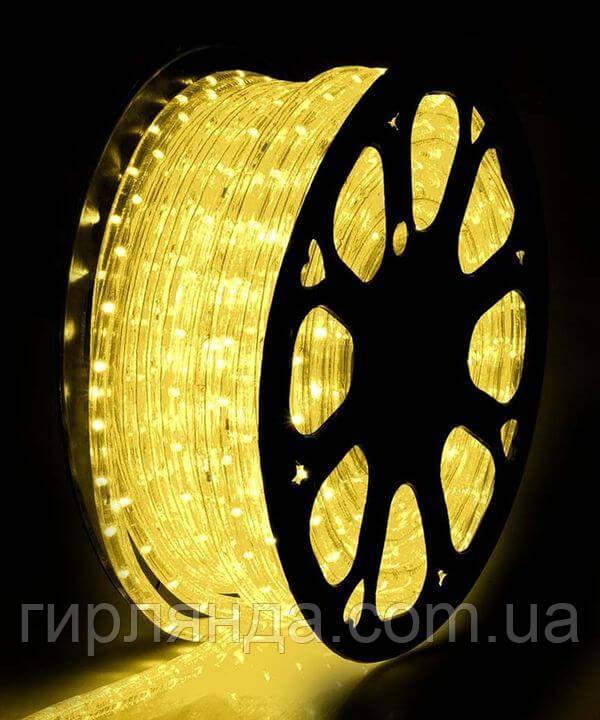 БУХТА 3-жильн. круглий LED 80 м, жовтий, шт