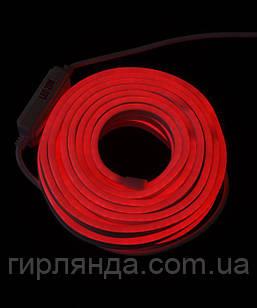 ГНУЧКИЙ НЕОН  8м, 2-х сторонній, червоний