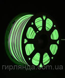 ГНУЧКИЙ НЕОН 50м, 2-х стор., зелений (+5 реле просто св.)