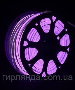 ГНУЧКИЙ НЕОН 50м, 2-х стор., фіолетовий (+5 реле просто св.)