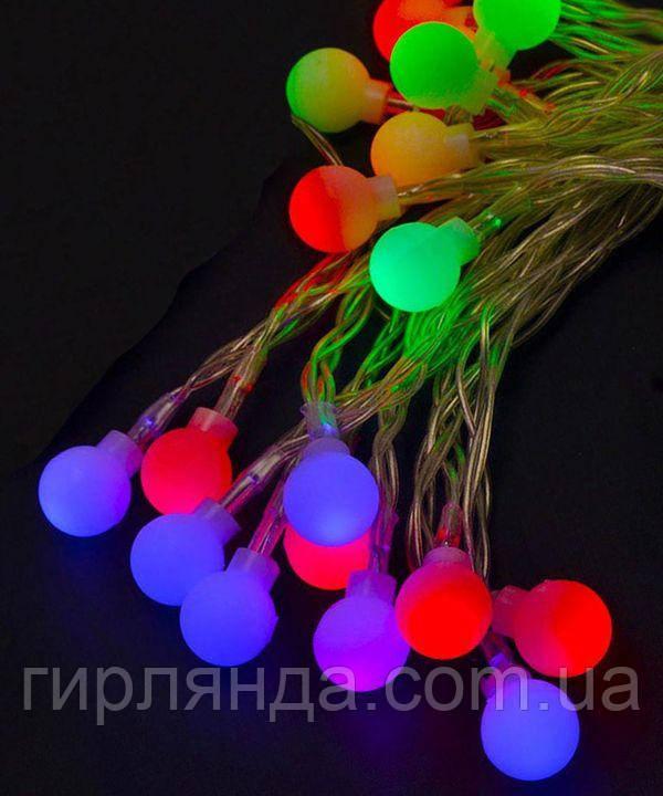 """Фігурки  20 LED, """"КУЛЬКИ"""", 5м+ перехідник,  мульті"""