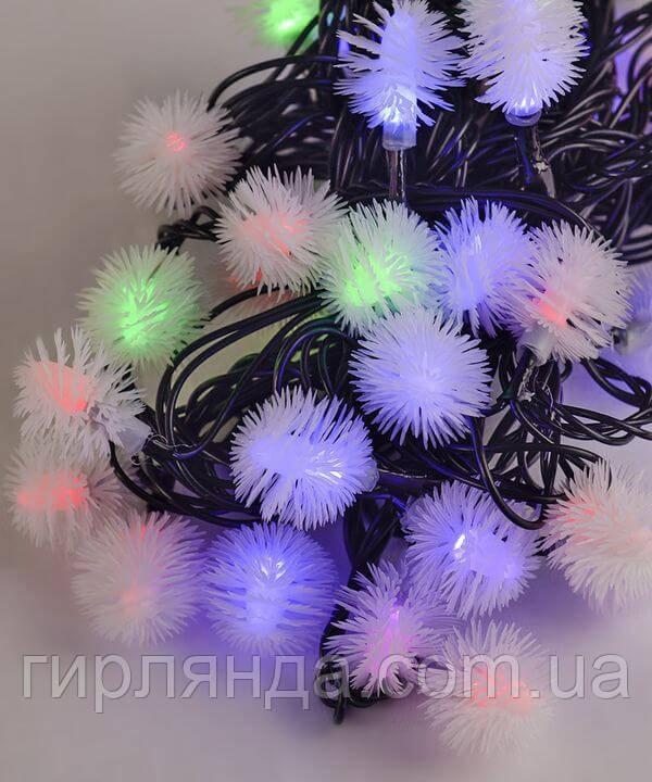 """Вуличні фігурки 40 LED """"ПУХНАСТИК"""", 7м+ перехідник, мульті"""