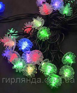 """Вуличні фігурки 40 LED """"ШИШКА"""", 7м+ перехідник, мульті"""