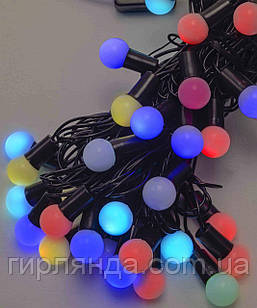 Кульки  18мм 40 LED, 7м+ перехідник   7-ми колірна/RGB