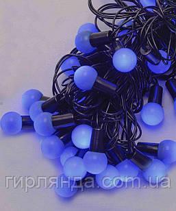 Кульки  18мм 40 LED, 7м+ перехідник  синій
