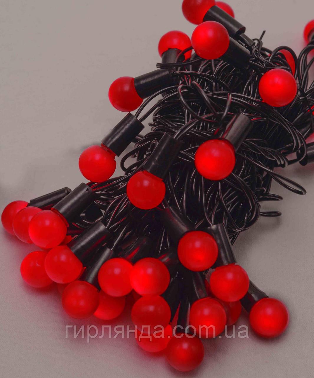 Кульки  18мм 40 LED, 7м+ перехідник, червоний