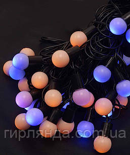 Кульки  18мм 40 LED, 7м+ перехідник, жовто-синій BY