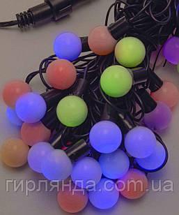 Кульки  25мм 40 LED 7м+ перехідник, кольор,