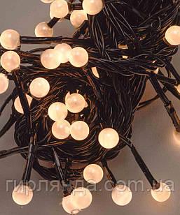 ПЕРЛИ 50 LED, 5м+ перехідник, теплий білий