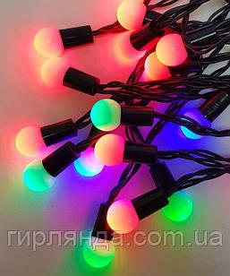 Фігурки  20 LED КУЛЬКА  НА БАТАРЕЙКАХ (+USB)  5м, мульті
