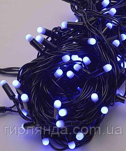 Вулична 100 LED 10м, каучук провід 2.2мм ,  синій