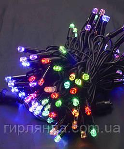 Вулична 100 LED,  10м,  чорний каучук 3,3мм, мульті RB/RG