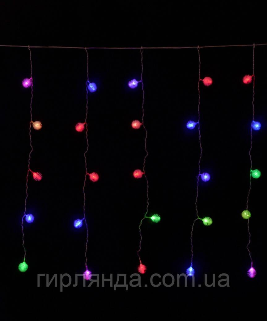 Вулична ШТОРА-ПУХНАСТИК   3м*0.8м, чорн/пров, мульті