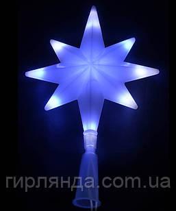 Верхівка LED 8- кутня 16L синьо-білий