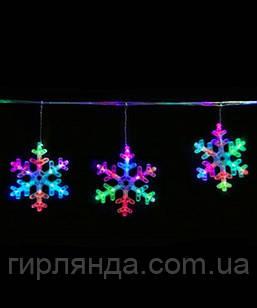 """D-11 Розтяжка-сніжинка """"6"""" LED  3м (кольор.), , шт"""