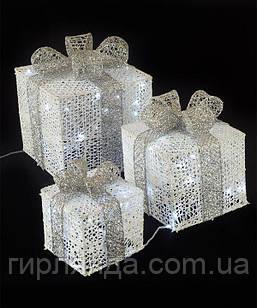 Подарунки  LED,  45 см  білий з бронзою