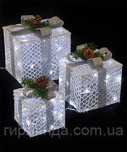 Подарунки  LED,  45 см  білий