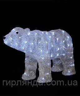 Ведмідь акриловий LED розмір  35см* 60см