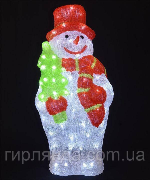 Сніговик акриловий  LED  60 см