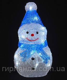 Сніговик акриловий  LED  30 см