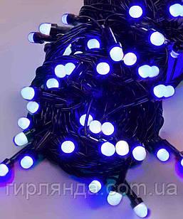 ЛІНЗА  8мм   200 LED, чорний провід 13м, синій