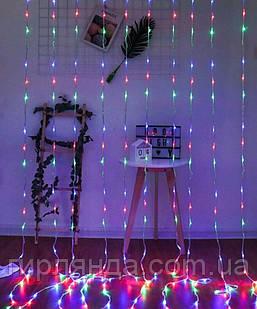 Водоспад 240 LED 2м*2м, (8 режимів+ статичн), мульті
