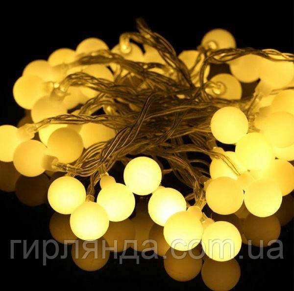 """Фігурки  20 LED, """"КУЛЬКИ"""", 5м+ перехідник,   білий теплий"""