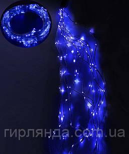 ПУЧОК-РОСА 300LED, 10 ліній по 3м, синій