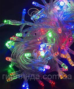100 LED  60 ламп, прозр/провід  мульті