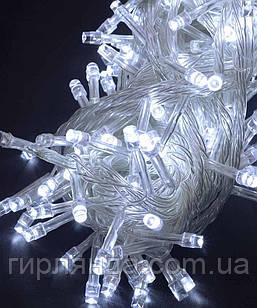 100 LED,  білий                   (прозорий провід)