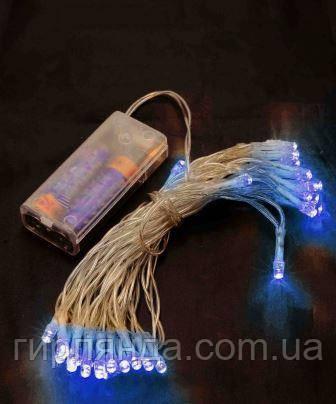 НА БАТАРЕЙКАХ 30 LED, 3м синій
