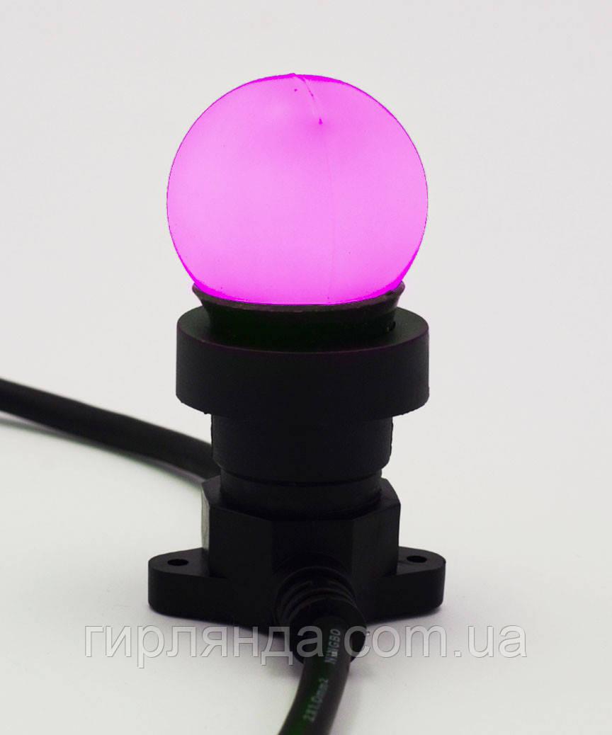 Лампочка LED 3W E-27 рожева