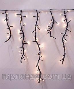 Штора- ФЕЄРВЕРК 240 LED   2.5м*0.6м,   теплий білий